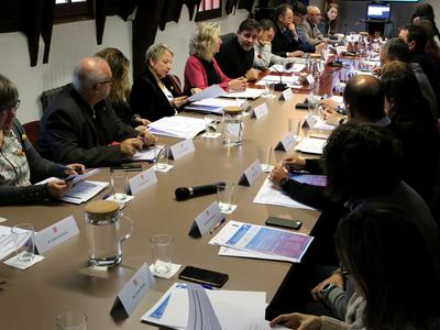 Moment de la reunió de constitució de la Comissió Territorial per a l'Estratègia de Dinamització Territorial a l'Alt Urgell