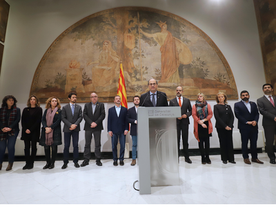 Declaració institucional del president d ela Generalitat