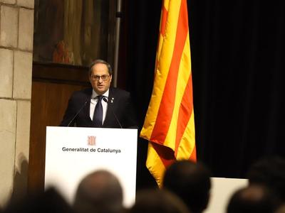 El cap de l'Executiu ha denunciat que avui, milers de catalans, senten de nou que el seu dret de vot no és respectat (Foto: Rubén Moreno)