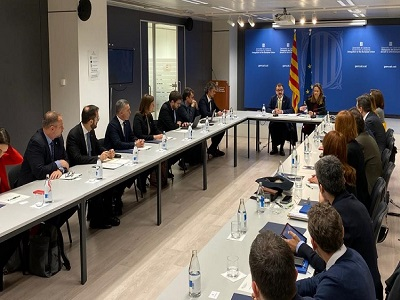 The meeting of the representatives of the Government of Catalonia took place at the Delegation of the Government of Catalonia to the EU