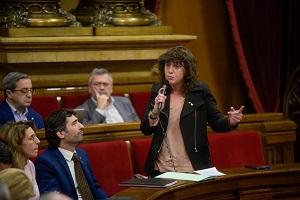 La consellera Teresa Jordà avui al Parlament