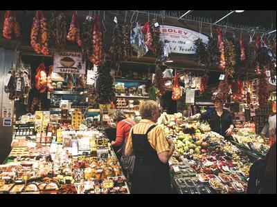 Parada d'un mercat de Barcelona