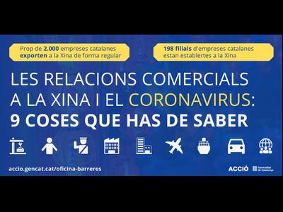 Comunicat del Departament d'Empresa i Coneixement en relació al coronavirus i les exportacions d'empreses catalanes a la Xina