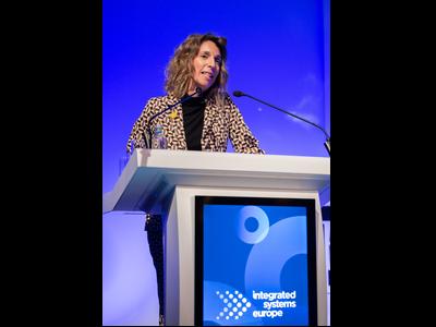 La consellera Àngels Chacón, en la seva intervenció a l'ISE a Amsterdam