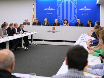 El president i la consellera, durant la reunió. Autor: Jordi Bedmar