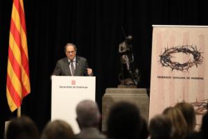 El president Torra a l'acte de presentació de la temporada de Passions