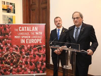 El cap de l'Executiu ha inaugurat l'exposició que es pot visitar a la Biblioteca Camões de Lisboa (autor: Jordi Bedmar)