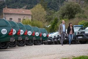 Moment de la presentació dels vehicles a Montserrat