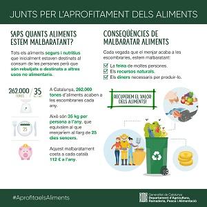 Infografia sobre el malbaratament alimentari
