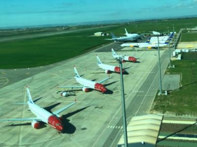 Imatge de l'aeroport el passat febrer