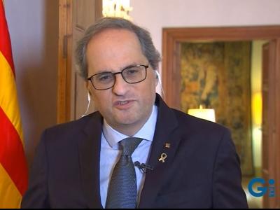 El president ha estat entrevistat a Televisió de Girona