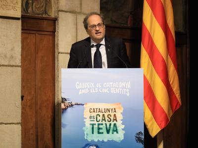 El president Torra ha encapçalat la presentació de la nova campanya de turisme