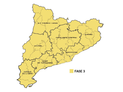 El PROCICAT proposa que tot Catalunya passi a la fase 3 del desconfinament a partir d'aquest dijous