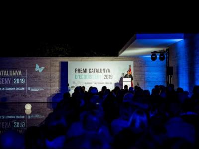 Lliurament del Premi Catalunya d'Ecodisseny en l'edició 2019.