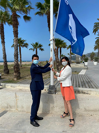 Castelldefels banderes blaves platges ports