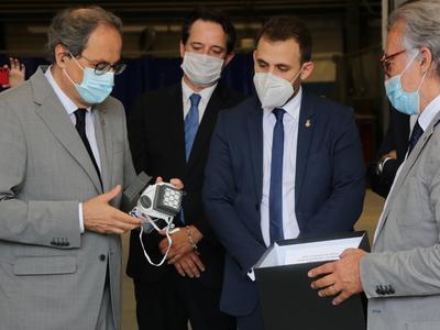 El president, durant la visita a Eurecat. Autor: Jordi Bedmar