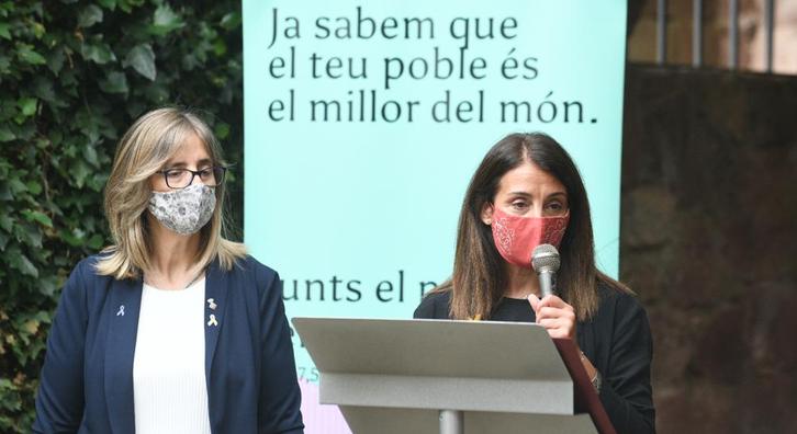 Consellera Budó a Prades, presentació PUOSC