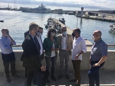 Moment de la visita al Port de Tarragona