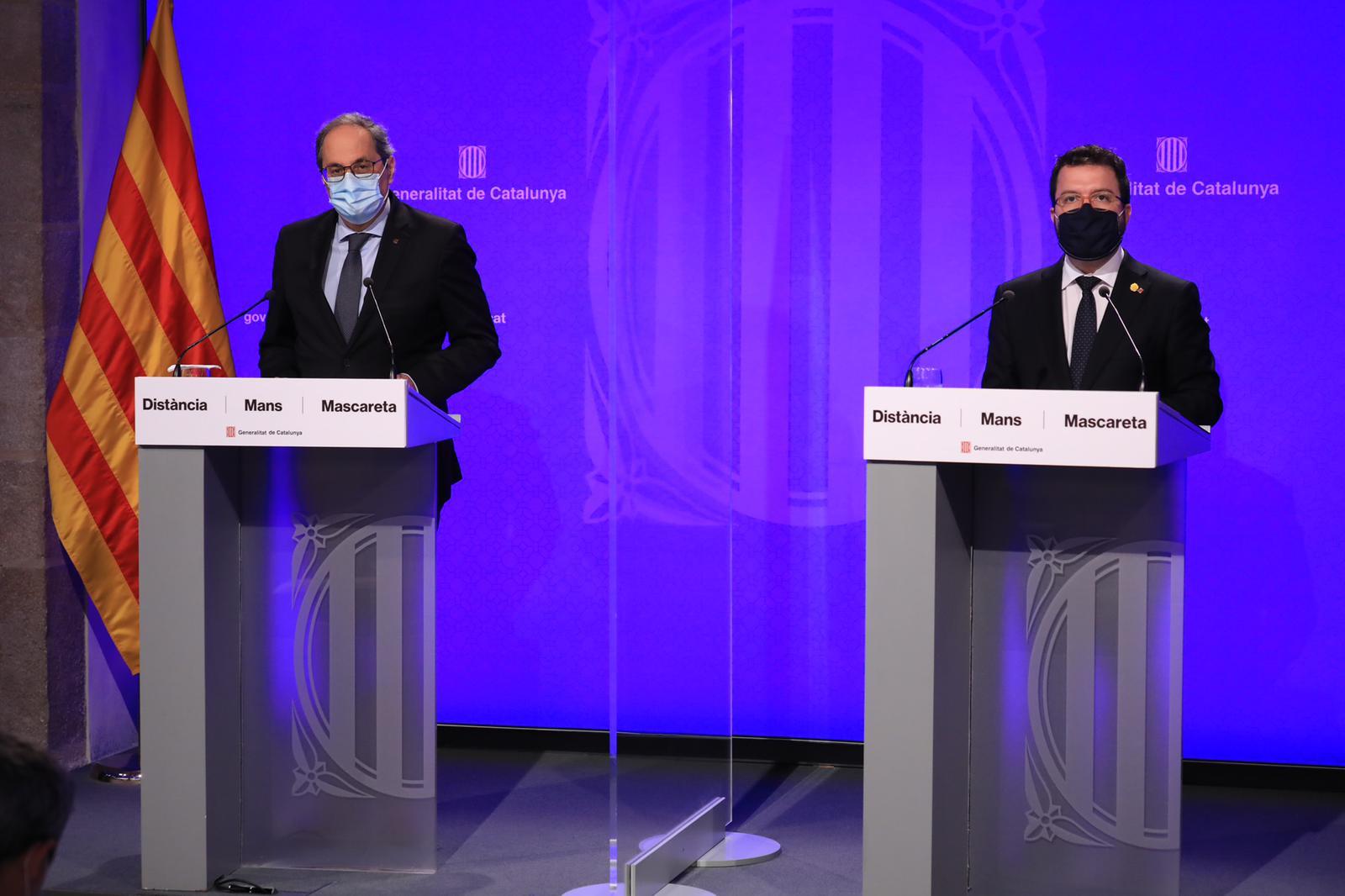President Torra i Vicepresident Aragonès