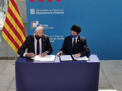 Signatura conveni Interior i Territori