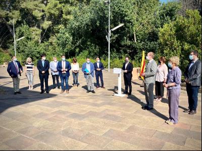 El vicepresident Aragonès ha comparegut avui abans de la reunió amb els delegats territorials