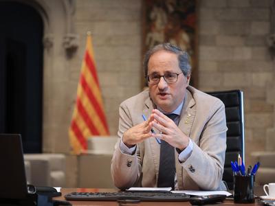 El cap de l'Executiu durant la reunió (foto: Jordi Bedmar)