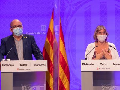 Roda de premsa dels consellers Bargalló i Vergés