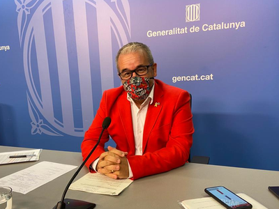 Josep Ginesta en roda de premsa