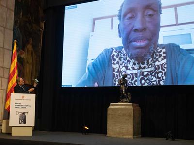 L'escriptor i activista kenyà Ngugi wa Thiong'o ha rebut el XXXI Premi Internacional Catalunya (autor: Rubén Moreno)