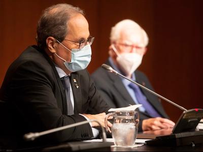 El cap de l'Executiu ha recordat Josep Benet (autor: Rubén Moreno)
