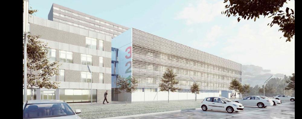 Imatge virtual del nou edifici de l'hospital de Can Ruti.