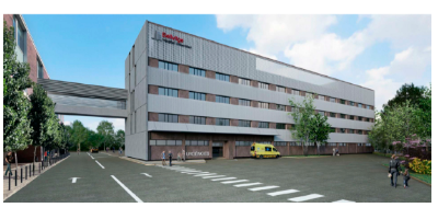 Imatge virtual de l'edifici de Bellvitge
