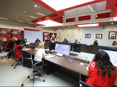 El president Torra ha fet balanç de la campanya que ha dut a terme aquest estiu el Govern amb la Creu Roja (foto: Rubén Moreno)