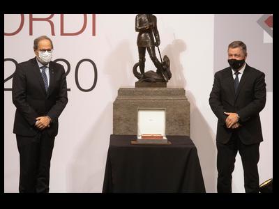 El president Torra i Joan Roca. Autor: Rubén Moreno
