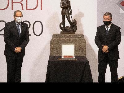 El president Torra i Joan Roca