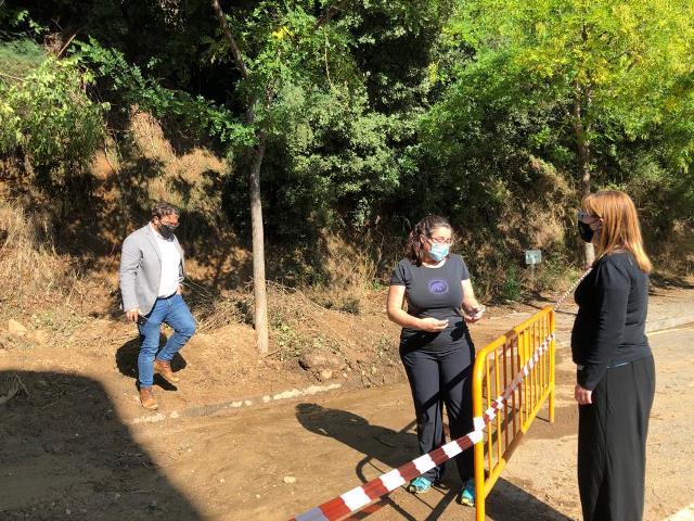 El delegat Juli Fernàndez visita les zones afectades pel temporal de La Garriga