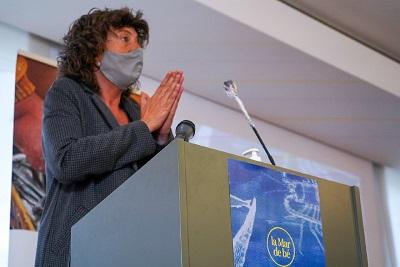 La consellera Teresa Jordà en un moment de la presentacó