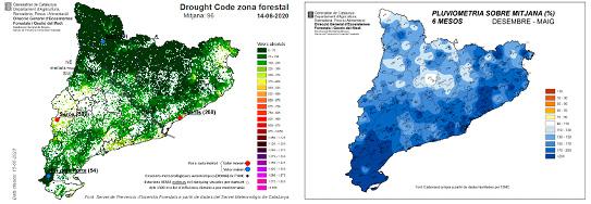 Mapes de pluviometria i Drought Code