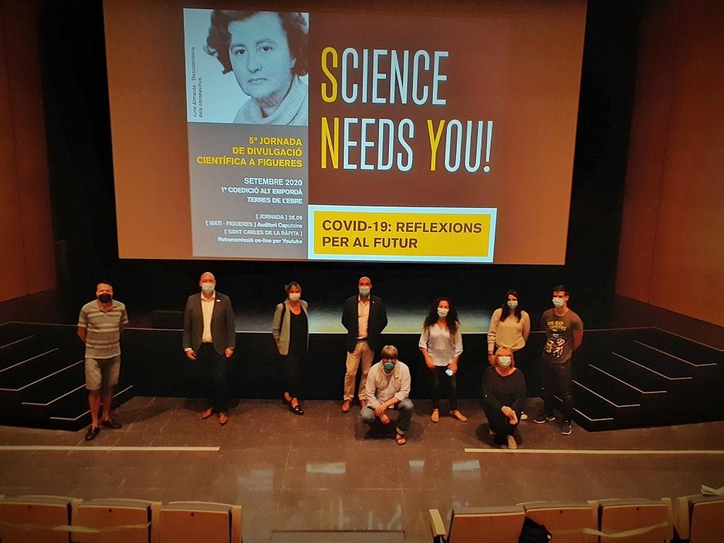 Participants a la Jornada Science Needs You 2020 a les Terres de l'Ebre