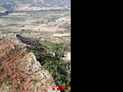 El terreny on s'ha desenvolupat el foc era accidentat, cosa que ha complicat les tasques d'extinció