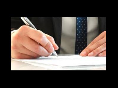 Imatge de la signatura d'un document