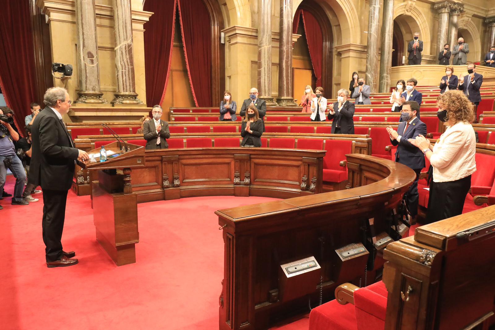 Intervenció del president Torra al Parlament