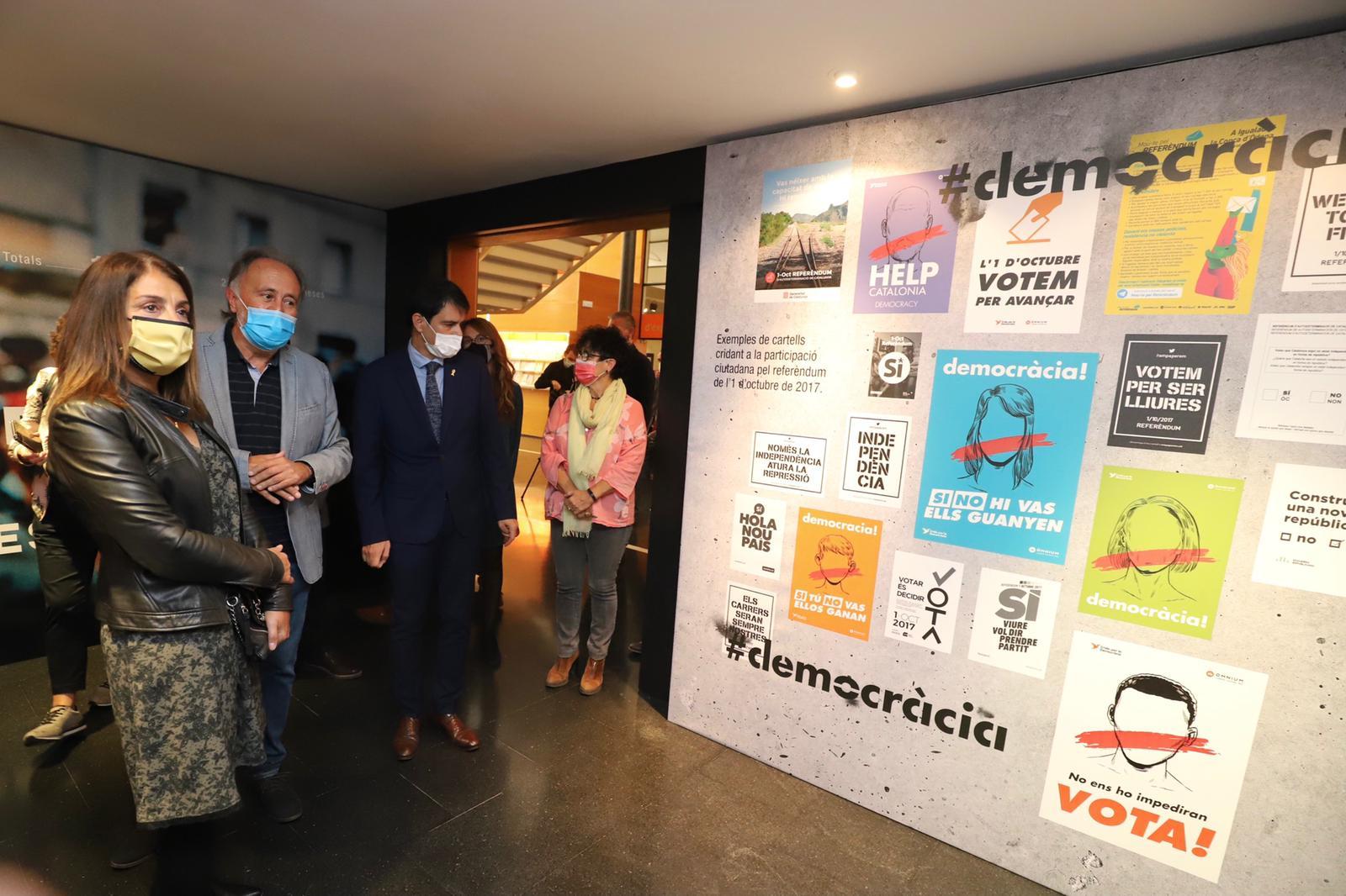 La consellera Budó inaugura l'espai 1 d'octubre a Igualada (Foto: Rubén Moreno).
