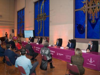 Imatge de l'acte d'inauguració del curs acadèmic 2020-2021 del Campus Iberus