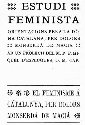 Estudi Feminista, portada original