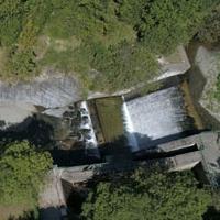 Vista aèria de la minicentral que es desmantellarà.