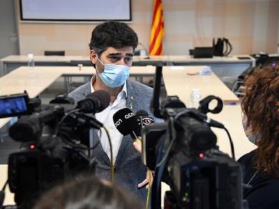 El conseller Puigneró presentant el projecte de desplegament de fibra òptica a les comarques del Pallars Sobirà i Alta Ribagorça