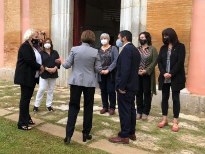 El conseller conversa amb les alcaldesses del territori