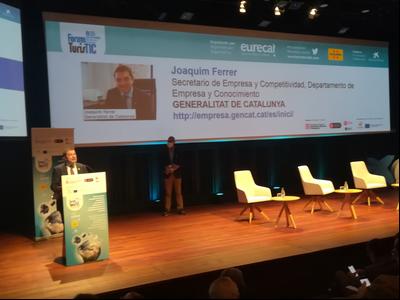 El secretari d'Empresa i Competiticvitat, Joaquim Ferrer, durant la seva intervenció