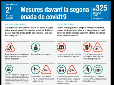 Mesures davant la segona onada de la Covid-19 El Govern recomana que els desplaçaments fora del domicili es limitin en la mesura del possible i es faci teletreball